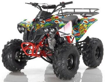 Квадроцикл подростковый бензиновый MOTAX ATV Raptor Super LUX 125 сс Бомбер
