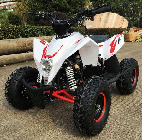 Детский квадроцикл бензиновый Motax GEKKON бело-красный (2)